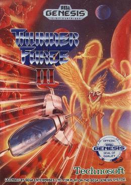 Carátula de Thunder Force III para Mega Drive