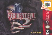 Carátula o portada EEUU del juego Resident Evil 2 para Nintendo 64
