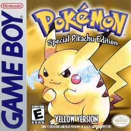 Carátula o portada EEUU del juego Pokémon Amarillo: Edición Especial Pikachu para Game Boy