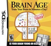 Carátula o portada EEUU del juego Brain Training del Dr. Kawashima: ¿Cuántos años tiene tu cerebro? para Nintendo DS