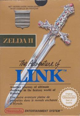 Carátula de Zelda II: The Adventure of Link para NES