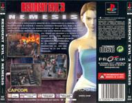 Carátula o portada Europea trasera del juego Resident Evil 3: Nemesis para PSOne