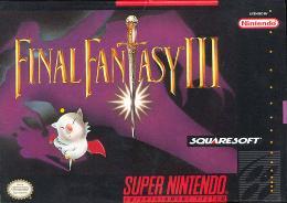 Carátula de Final Fantasy III para Super Nintendo