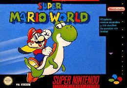 Carátula de Super Mario World para Super Nintendo
