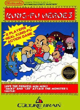 Carátula de Kung-Fu Heroes para NES