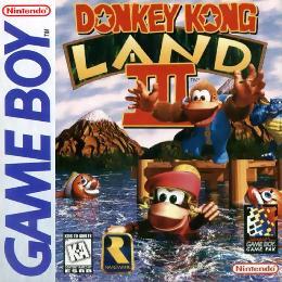 Carátula o portada EEUU del juego Donkey Kong Land 3 para Game Boy