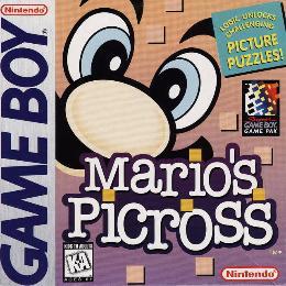 Carátula o portada EEUU del juego Mario's Picross para Game Boy