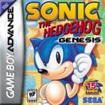 Carátula o portada EEUU del juego Sonic the Hedgehog Genesis para Game Boy Advance