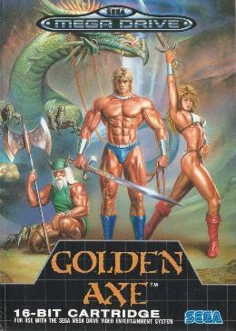 Carátula de Golden Axe para Mega Drive