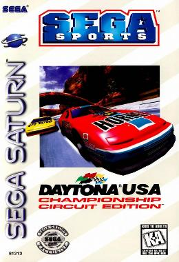 Carátula o portada EEUU del juego Daytona USA: Championship Circuit Edition para Saturn
