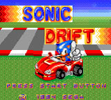 Carátula de Sonic Drift para Game Gear