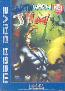 Carátula de Earthworm Jim para Mega Drive
