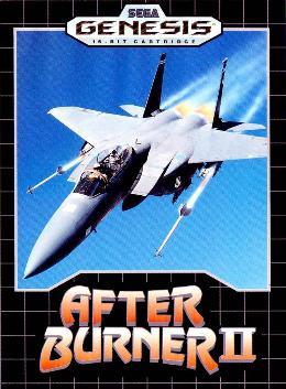 Carátula o portada EEUU del juego After Burner II para Mega Drive