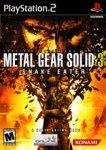 Carátula o portada EEUU del juego Metal Gear Solid 3: Snake Eater para PlayStation 2