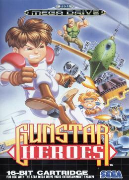 Carátula de Gunstar Heroes para Mega Drive