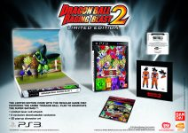 Carátula o portada Europea Edición Limitada del juego Dragon Ball: Raging Blast 2 para PlayStation 3