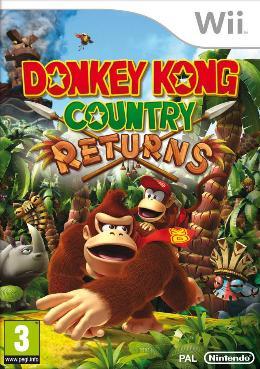Carátula de Donkey Kong Country Returns para Wii