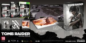 Carátula o portada Edición Supervivencia del juego Tomb Raider (2013) para PlayStation 3