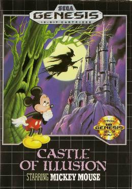 Carátula de Castle of Illusion Starring Mickey Mouse para Mega Drive