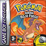 Carátula de Pokémon Rojo Fuego para Game Boy Advance