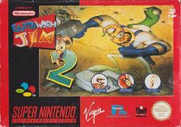 Carátula de Earthworm Jim 2 para Super Nintendo