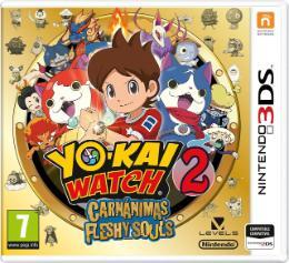 Carátula de Yo-kai Watch 2: Carnánimas para Nintendo 3DS