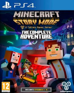 Carátula de Minecraft: Story Mode para PlayStation 4