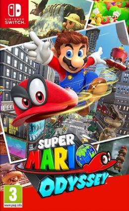 Carátula de Super Mario Odyssey para Nintendo Switch