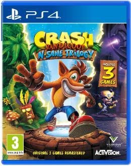 Carátula de Crash Bandicoot N. Sane Trilogy para PlayStation 4