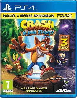 Carátula de Crash Bandicoot N. Sane Trilogy para PlayStation 4