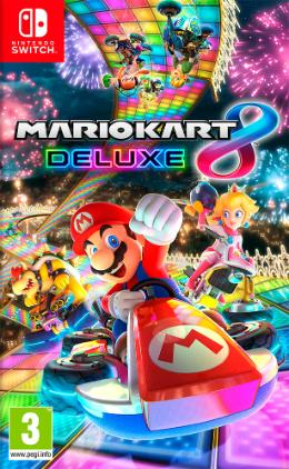 Carátula de Mario Kart 8 Deluxe para Nintendo Switch