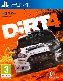 Carátula de DIRT 4 para PlayStation 4
