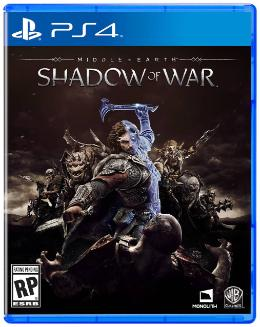 Carátula de La Tierra Media: Sombras de Guerra para PlayStation 4