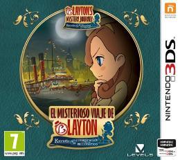 Carátula de El Misterioso Viaje de Layton: Katrielle y la Conspiración de los Millonarios para Nintendo 3DS