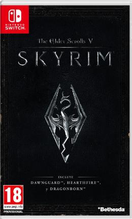 Carátula de The Elder Scrolls V: Skyrim para Nintendo Switch