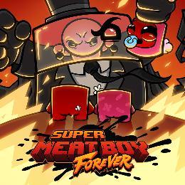 Carátula de Super Meat Boy Forever para PlayStation 4