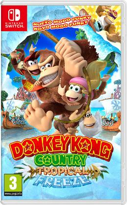 Carátula de Donkey Kong Country: Tropical Freeze para Nintendo Switch