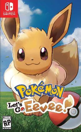 Carátula de Pokémon Let's Go Eevee para Nintendo Switch
