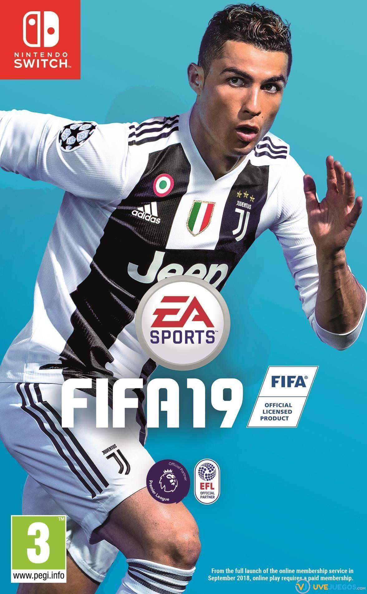 Resultado de imagen de portada FIFA 19 nintendo switch