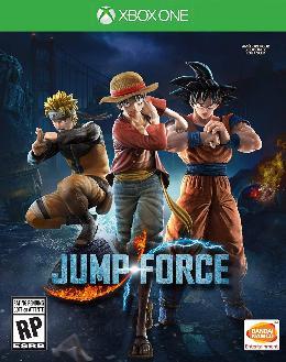Carátula o portada EEUU del juego Jump Force para Xbox One