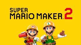 Carátula o portada Logo Oficial del juego Super Mario Maker 2 para Nintendo Switch