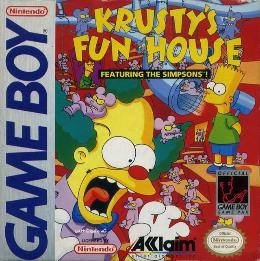 Carátula o portada EEUU del juego Krusty's Fun House para Game Boy