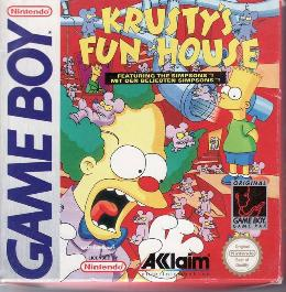 Carátula o portada Europea del juego Krusty's Fun House para Game Boy