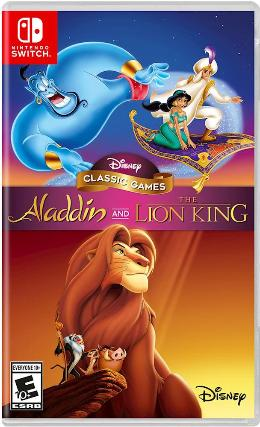 Carátula de Disney Classic Games: Aladdin and The Lion King para Nintendo Switch