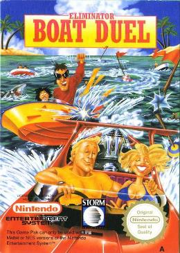 Carátula de Eliminator Boat Duel para NES