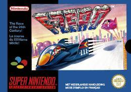 Carátula de F-Zero para Super Nintendo