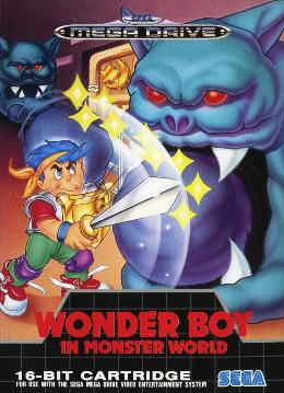 Carátula de Wonder Boy in Monster World para Mega Drive