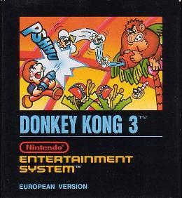 Carátula de Donkey Kong 3 para NES