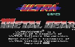 Carátula de Metal Gear para Commodore 64