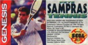 Carátula o portada EEUU del juego Pete Sampras Tennis para Mega Drive